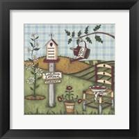 Ladybug Cottage Framed Print