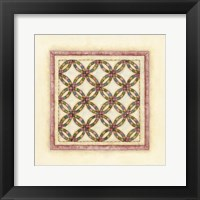 Circle Patchwork Framed Print