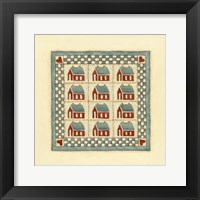 House Patchwork Framed Print