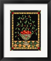 Apples In Dish Framed Print