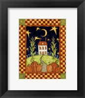 Pumpkin Moon Framed Print