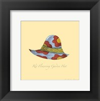 Red Flowering Garden Hat Framed Print