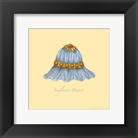 Sunflower Bonnet Framed Print
