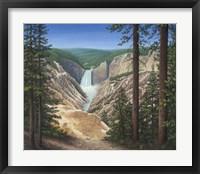 Framed Lower Falls - Yellowstone
