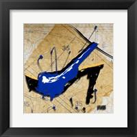 Framed Blue Heel