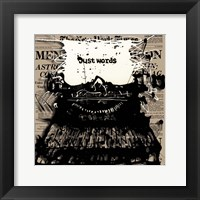 Just Words 2 Framed Print