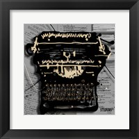 Framed Movie Typewriter 1