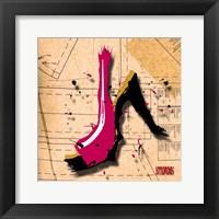 Suede Heel Pink Framed Print