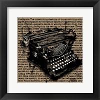 Framed Three-Quarter Typewriter