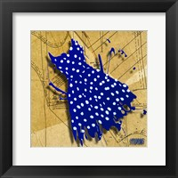 White On Blue Framed Print