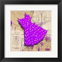 White On Purple Framed Print