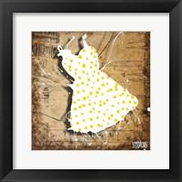 Framed Yellow On White