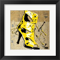 Yellow Strap Boot Framed Print
