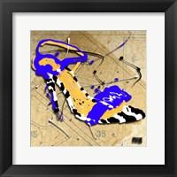 Zebra Heel Blue Framed Print