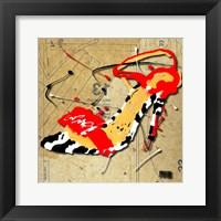 Zebra Heel Red Framed Print