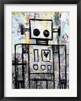 Framed Boy Robot Color
