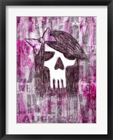 Framed Pink Skull Princess