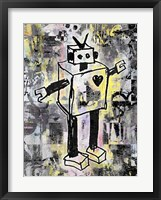 Framed Robot Graffiti Color