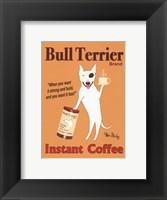 Framed Bull Terrier Instant Coffee