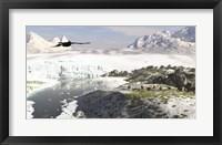 Framed Receding Glacial Scene Circa 18,000 Years Ago