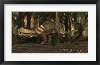Framed Large Prestosuchus Moves Through The Brush