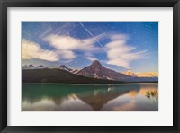 Framed Space Station over Mt Chephren in Banff National Park, Canada