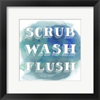 Bathroom Do's I Framed Print
