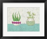 Succulent Duo I Framed Print