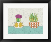 Succulent Duo II Framed Print