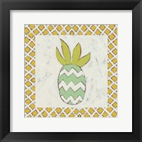 Pineapple Vacation III Framed Print