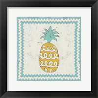 Pineapple Vacation IV Framed Print