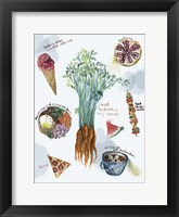 Food Sketches I Framed Print