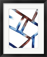 Blue & Red Chutes I Framed Print