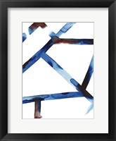 Blue & Red Chutes II Framed Print