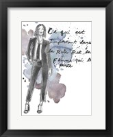 Fashion Quotes III Framed Print