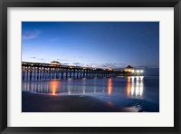 Pier Reflections I Framed Print