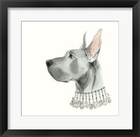 Haute Hounds I Framed Print