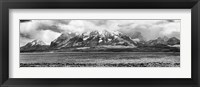 Framed View of the Sarmiento Lake in Torres del Paine National Park, Patagonia, Chile