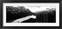 Framed Mountain range at the lakeside, Banff National Park, Alberta, Canada