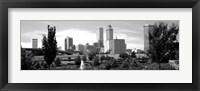 Framed Downtown skyline from Centennial Park, Tulsa, Oklahoma