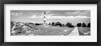 Framed Cape Lookout Lighthouse, Outer Banks, North Carolina