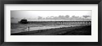 Framed Pier in an ocean, Newport Pier, Newport Beach, Orange County, California