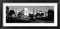 Framed Car moving on the street, Rodeo Drive, Beverly Hills, California