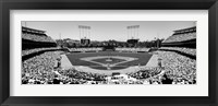 Framed Dodgers vs. Yankees, Dodger Stadium, City of Los Angeles, California