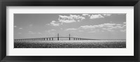 Framed Bridge across a bay, Sunshine Skyway Bridge, Tampa Bay, Florida
