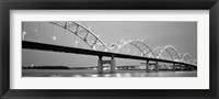 Framed Bridge over a river, Centennial Bridge, Davenport, Iowa