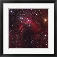 Framed Cave Nebula located in the Constellation Cepheus