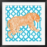 Bright Menagerie Tiger Framed Print
