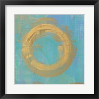 Golden Circles II Framed Print