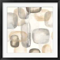 Neutral Stones II Framed Print